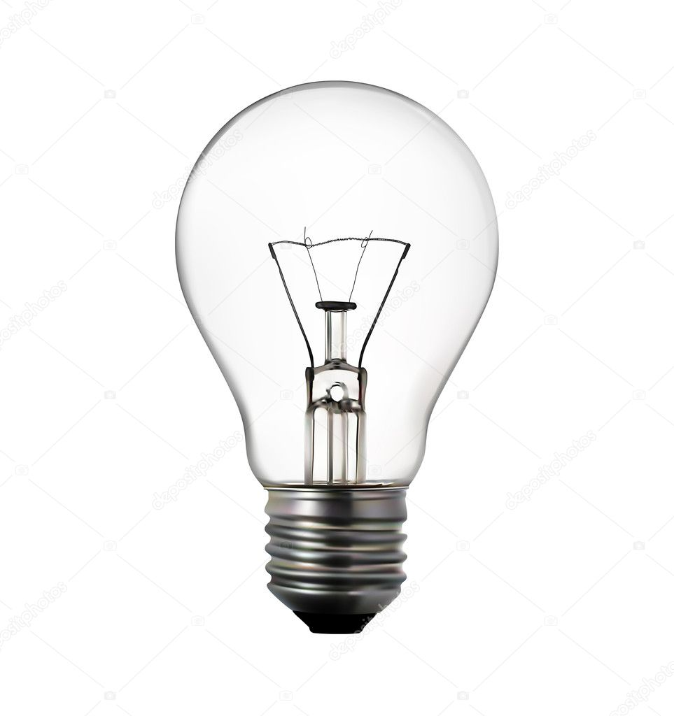 3d render of light bulb on white stock photo ericmilos for Find a light bulb