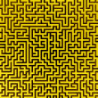 Simple yellow maze — Stock Photo