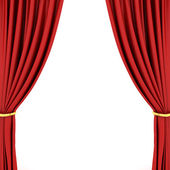 Red theater curtain — Photo