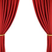 Cortina de teatro vermelho — Foto Stock