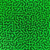 Simple green maze — Stock Photo