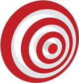 Vector transparent target illustration — Stock Vector