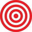 Vector transparent target illustration — Vetorial Stock #2006638