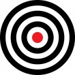 Vector transparent target illustration — Vetorial Stock #2006646