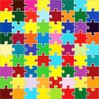 Royalty-Free Stock Vectorielle: Beautiful jigsaw puzzle