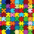 Beautiful jigsaw puzzle — Image vectorielle
