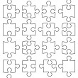 Beautiful jigsaw puzzle — Vecteur #2007323