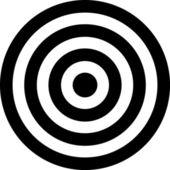 Vector illustration de cible transparent — Vecteur