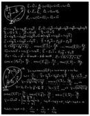 Mechanics and mathematics formulas — Stock Vector