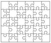 Lindo quebra-cabeça — Vetorial Stock