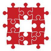 Beautiful jigsaw puzzle — Stock Vector