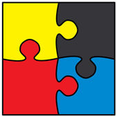 Schöne jigsaw puzzle — Stockvektor