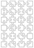 Beautiful jigsaw puzzle — Vecteur