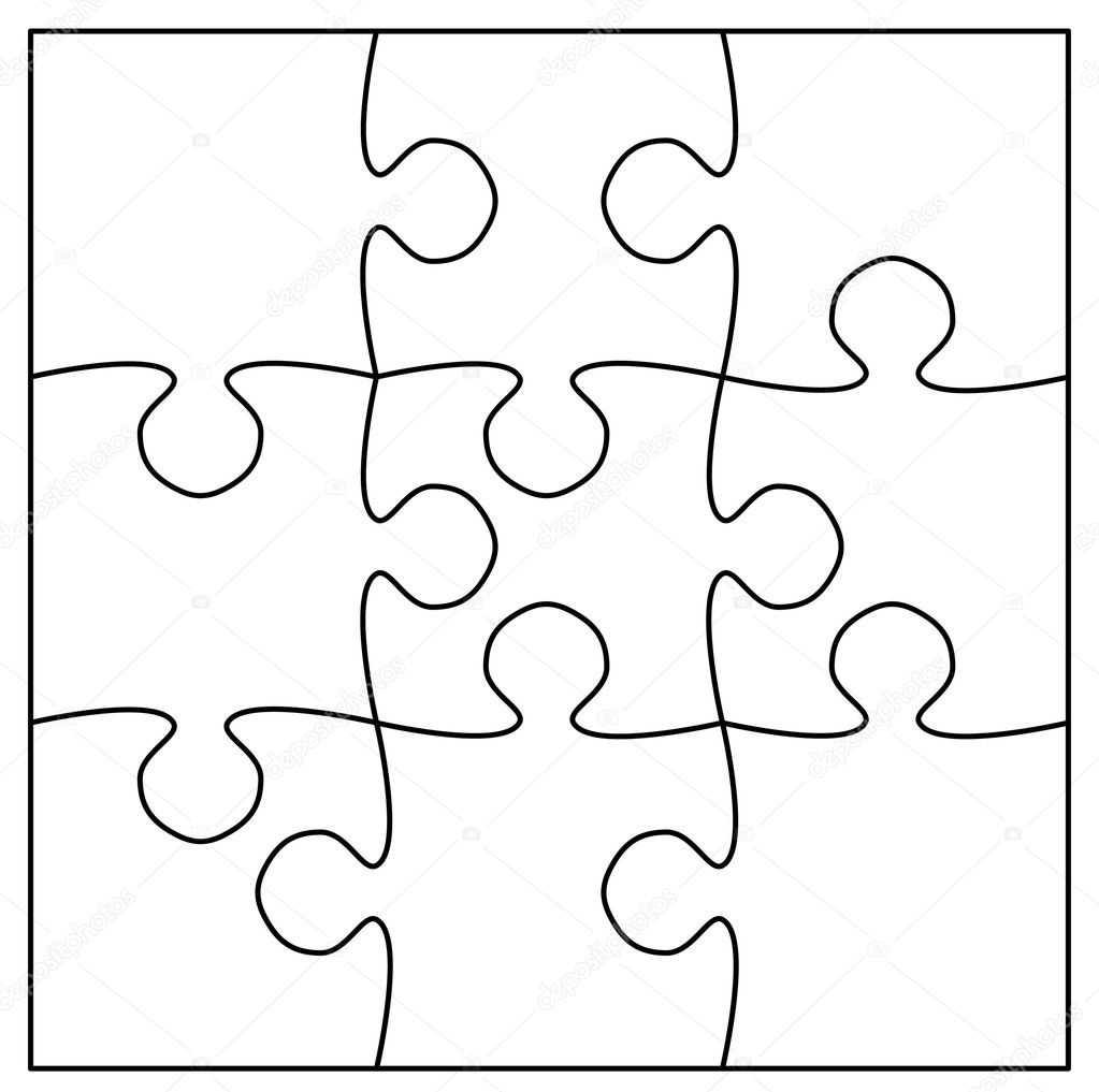 puzzle piece outline coloring pages - photo#23