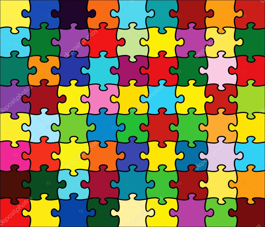 Beautiful Jigsaw Puzzle Stock Vector Ericmilos 2007295