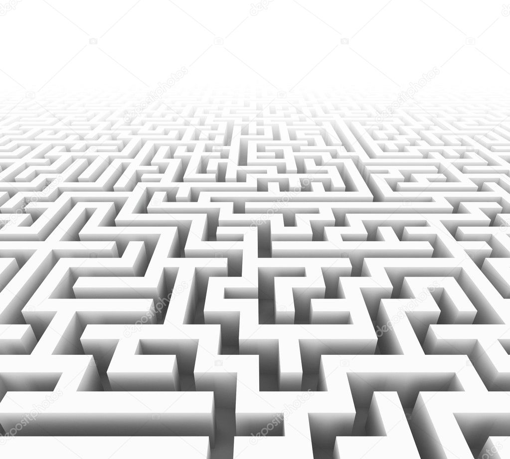 High quality illustration of a large maze or labyrinth — Stock Photo #2032023
