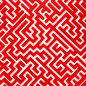 3d Render illustration of Simple red maze — Stock Photo