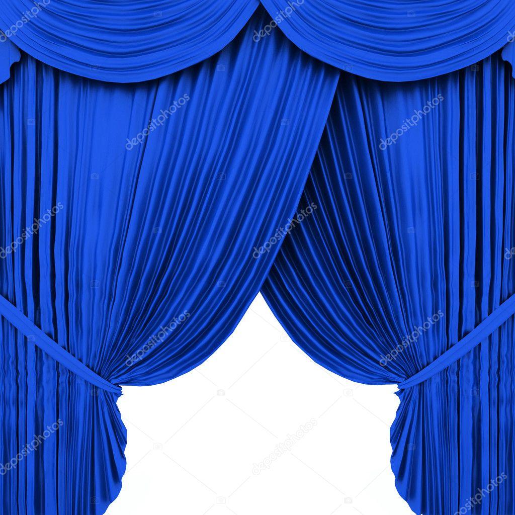 Blue theater curtain isolated on white stock photo 169 ericmilos