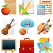 Education icon set — Imagen vectorial