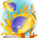 Angelfish — Stock Vector