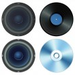 Sound set - Stock Vector
