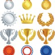 Royalty-Free Stock Vector Image: Vector illustration - Awards icon set