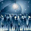 Stock Vector: Night party