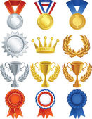 Vectorillustratie - awards pictogrammenset — Stockvector