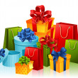Gifts - Stockvectorbeeld