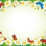 farfalla e fiori — Vettoriale Stock