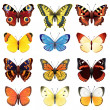 Royalty-Free Stock Векторное изображение: Butterfly set