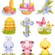 Easter icons - Stock Vector