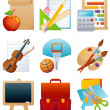 Royalty-Free Stock Vectorafbeeldingen: Education icon set