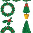 Royalty-Free Stock Vector Image: Christmas decor