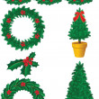 Stock Vector: Christmas decor