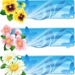 Vector de stock : Flower banner
