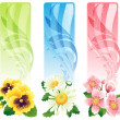 Flower banner — Stock Vector