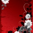 Grunge flower background — Image vectorielle