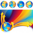 Globe background - Stockvectorbeeld
