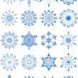 Stock Vector: Snowflakes