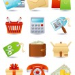 Shopping icon — Stockvectorbeeld