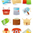 Stock vektor: Shopping icon