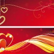 Valentine&#039;s banner - Stock Vector