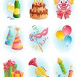 Holiday icons — Image vectorielle