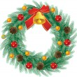 Christmas wreath — Stock Vector #2014291