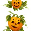 Royalty-Free Stock Vector Image: Halloween pumpkins