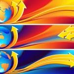 Globe banner — Stock Vector #2014403