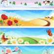 Stock Vector: Four seasons