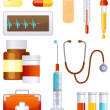 Royalty-Free Stock 矢量图片: Medicine icon set