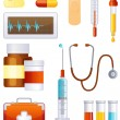 Stock Vector: Medicine icon set